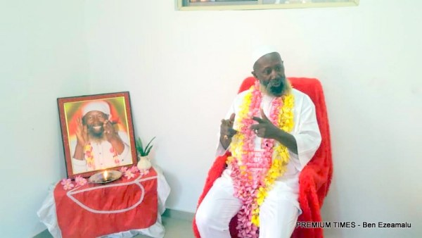 Sat Guru Maharaj Ji during an interview with Premium Times.[Photo: PREMIUM TIMES - Ben Ezeamalu]