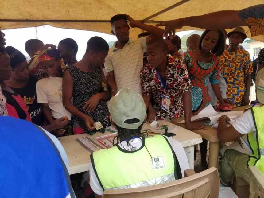 People voting in Adamawa
