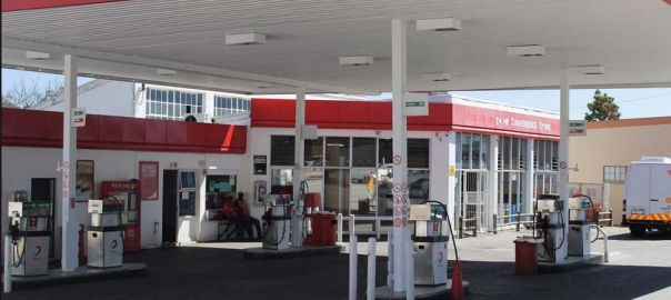 A private filling station used to illustrate the story.