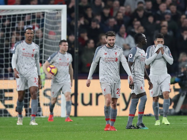 Photo from the match between Liverpool against Westham United.