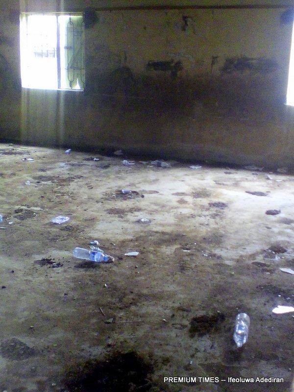 A classroom turned toilet for hoodlums at Ogundele community where Methodist School, Ewu-tuntun, Oshodi is located