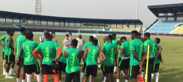 Super Eagles begin training in Asaba ahead of Seychelles, Egypt ties