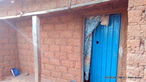 Bullet hole on Danmori's door
