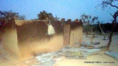 Destroyed Fulani homes (2)