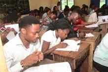 Shortlisted candidates taking aptitude test