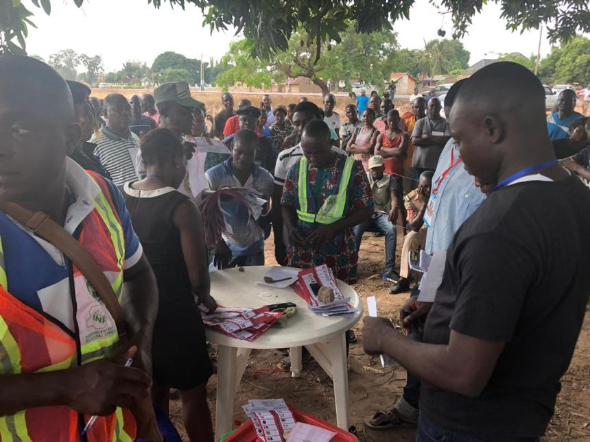 Counting of votes at a polling unit where there was a rerun
