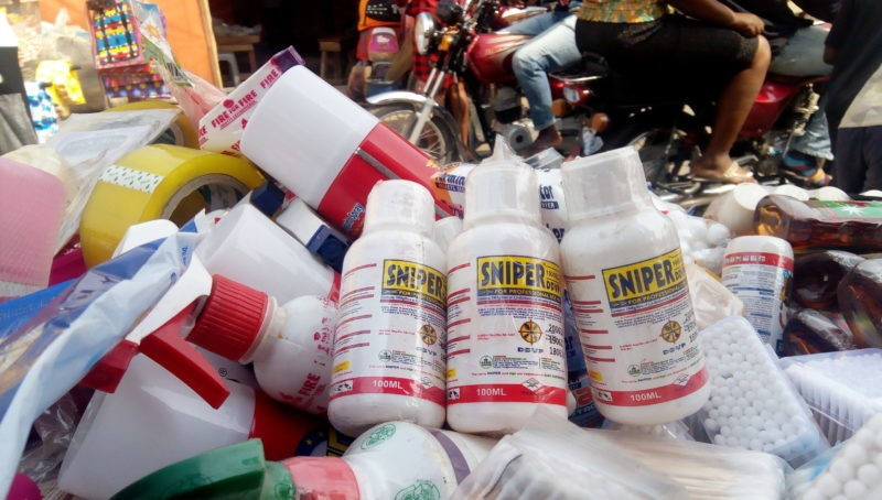 Sniper Insecticides used to illustrate the story (Photo Credit: Haleemah Yahaya)