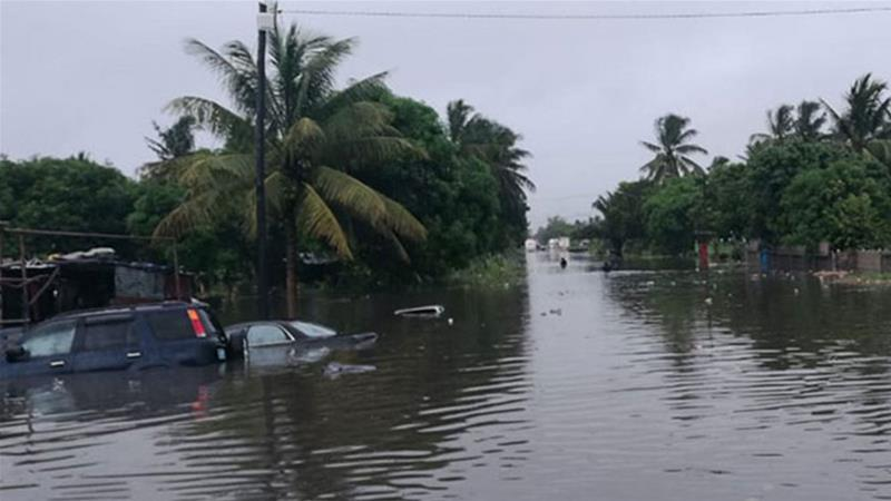 Flooding in Mozambique as Tropical Cyclone Desmond makes landfall (Photo Credit: Al Jazeera)