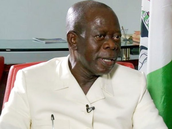 National Chairman of the All Progressives Congress (APC), Adams Oshiomhole. [PHOTO CREDIT: ThisdayLIVE]