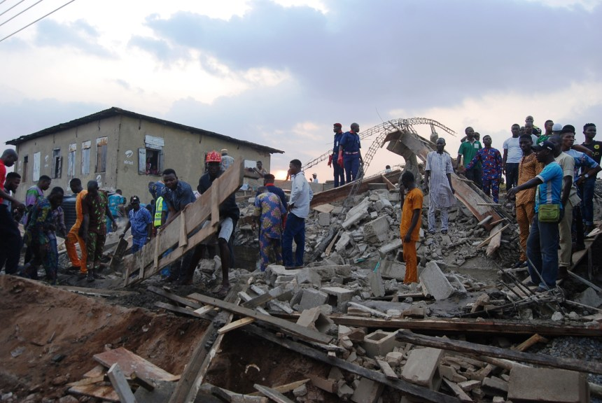 Two-storey building collapses in Ibadan