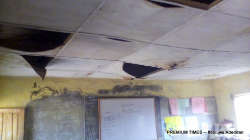 The Primary 6 classroom of Methodist School, Ewu-tuntun, Oshodi