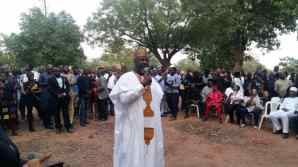 Dino Melaye at the candlelight procession for Late Pius Adesanmi