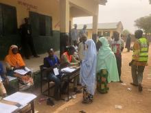 Voting in progress at Doka PU 003, Dawa village in Rimin Gado local government area Kano state