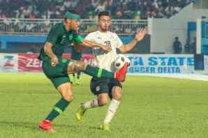 William Troost Ekong in action for the Super Eagles against Egypt PHOTO CREDIT PREMIUM TIMES