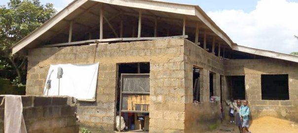 Zion Africa school annex full front view of building