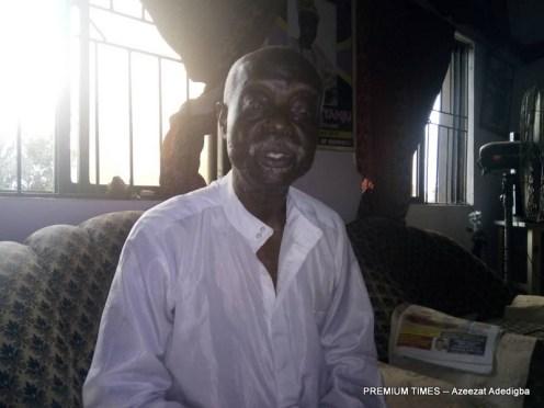 King of idofa, David Adeyanju narrating the issue
