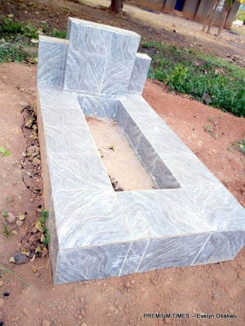 Ochanya's grave, she was sexually abused by Mr Ogbuja