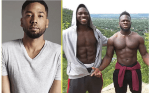 Jussie Smollett and the Osundairo brothers. [PHOTO CREDIT: NAN]