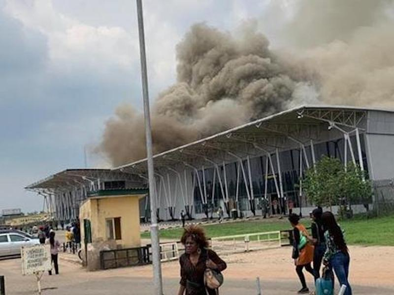 Fire guts Imo Airport [Photo: THISDAYLIVE]