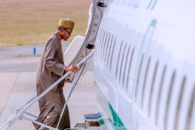 President Muhammadu Buhari departs the country for official events. [PHOTO CREDIT: Official Twitter handle of the Presidency]