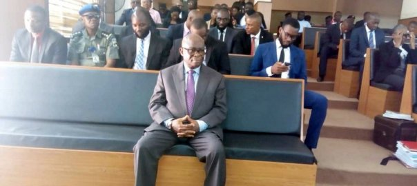 Former CJN, Walter Onnoghen in CCT on Monday.