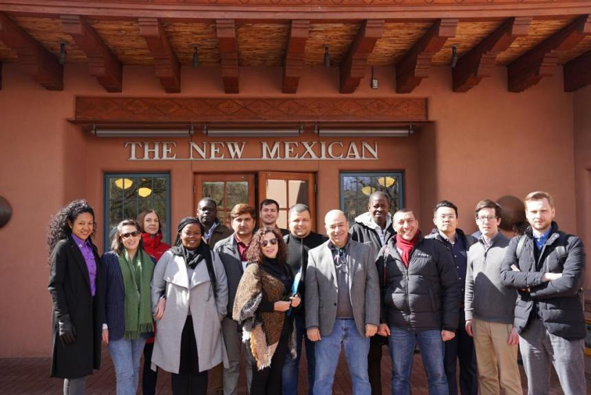A group picture of participants at The New Mexican in Santa Fe