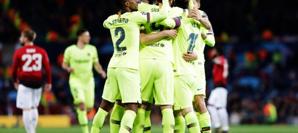 Barcelona rejoicing in victory over Manchester United