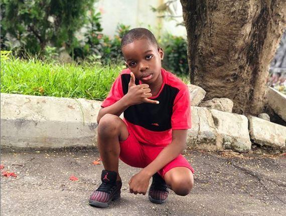 Wizkid's first son, Boluwatife Balogun has announced plans to launch an adult clothing line Photo Boluwatife Instagram