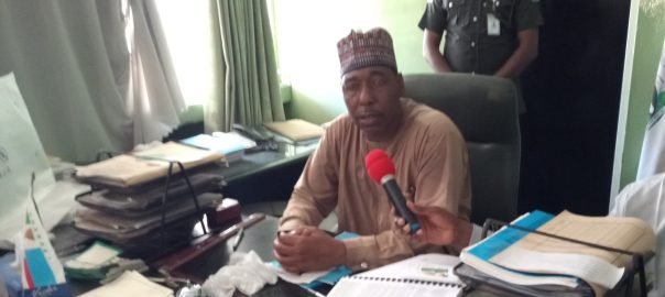 Confusion Borno as new governor pays surprise visit to the state secretariat, meets 99.9 percent workers absent