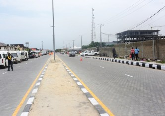 The newly commissioned Bisola Durosinmi-Etti/Hakeem Dickson Road in Lekki by Governor Akinwunmi Ambode, at the weekend.