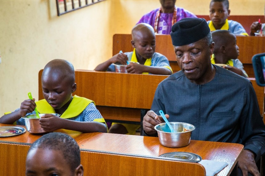 Osinbajo flags off school feeding programme in Ekiti