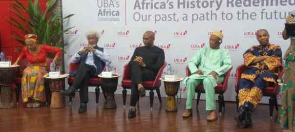 Panelists seated for the Africa day celebration organised by UBA at its headquarters in Lagos