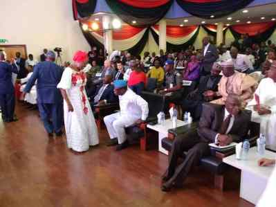 Guests getting sitted for the commencement of the book of essays in honour of frontline journalist, Dapo Olorunpomi, publisher of Premium Times.