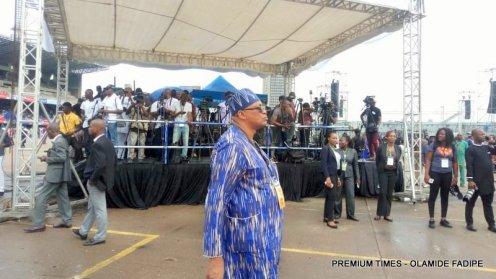 Media platform at the inauguration.