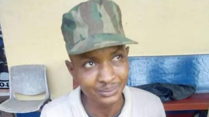The 'soldier' who allegedly beat Baba Fryo (Photos by Baba Fryo)