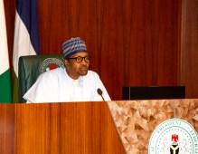 President Muhammadu Buhari at a Federal Executive Council meeting