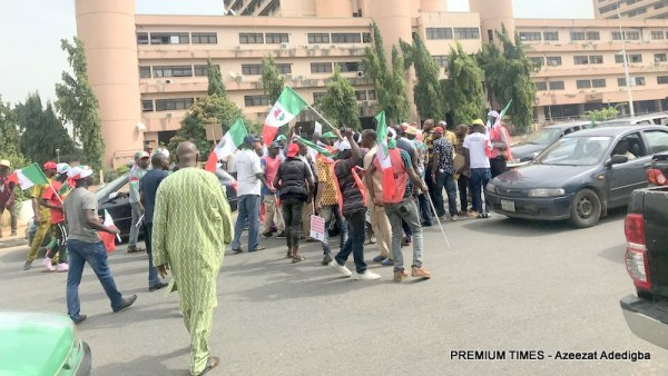 NLC national protest against Ngige in Abuja.