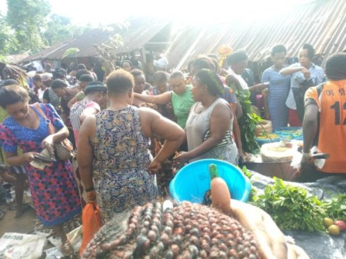 Trade by barter market in Cross River