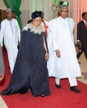 Aisha Buhari and President Buhari on Democary day