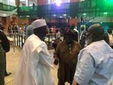 Senator Ahmed Ndume, contender for the senate presidency arriving the senate chamber.