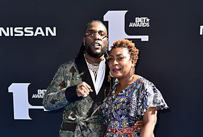 (L-R) Burna Boy and Bose Ogulu attend the 2019 BET Awards at Microsoft Theater in Los Angeles, California [Photo Source: Aaron J Thornton/Getty Images North America]