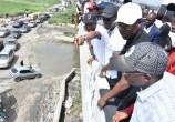 L-R: Managing Director, Lagos Metropolitan Area Transport Authority (LAMATA), Engr. Abiodun Dabiri; Head of Service, Mr. Hakeem Muri-Okunola; Lagos State Governor, Mr. Babajide Sanwo-Olu; Deputy Governor, Dr. Obafemi Hamzat during the Governor's inspection of the Lagos-Badagry Expressway on Sunday, June 2, 2019.