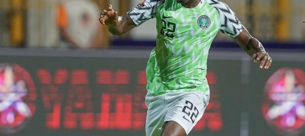 Kenneth Omeruo scores goal for super eagles