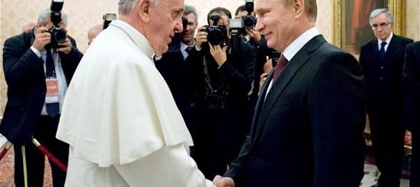 Pope Francis and Russian President, Vladimir Putin (Photo Credit: The Telegraph)