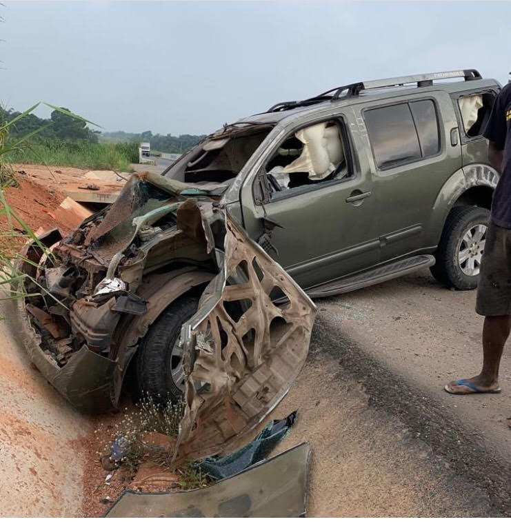 Image result for Pete Edochie's son survives ghastly motor accident