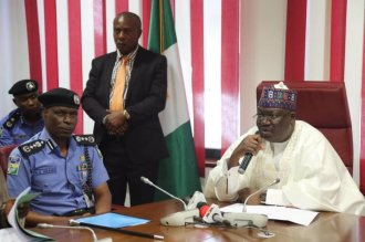 Inspector General of Police, Adamu Mohammed today paid a visit to His Excellency, the President of the Senate, Distinguished Senator Ahmad Lawan