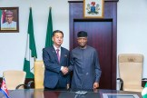 Vice President Yemi Osinbajo and North Korean Vice Premier Ri Ryong Nam