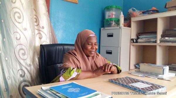 Mariam Salele, the principal of Lami Abba Community Girls Secondary Science School, in Kofar Sauri, Katsina State