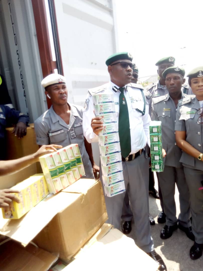 Firm suspends staff arrested by Customs with 10 cartons of Tramadol