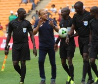 AFCON: Bakary Papa Gassama from the Gambia (2nd from right)
